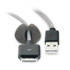 3.3 ft. Tangle Free iPod/iPhone/iPad USB 2.0 Cable with Cable Clip