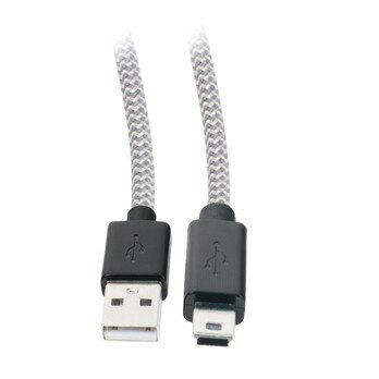 3.3ft Tangle Free Mini USB 2.0 Cable with Cable Clip